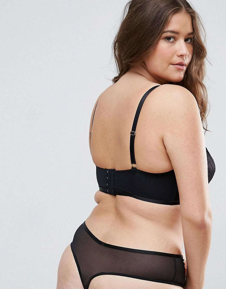 d2d2c3bafb Lyst - ASOS Becca Strappy Lace Underwire Bra in Black