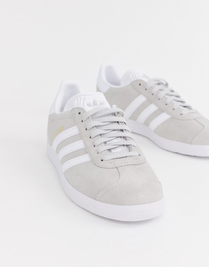 7709ed07f614 Lyst - adidas Originals Gray And White Gazelle Sneakers in Gray