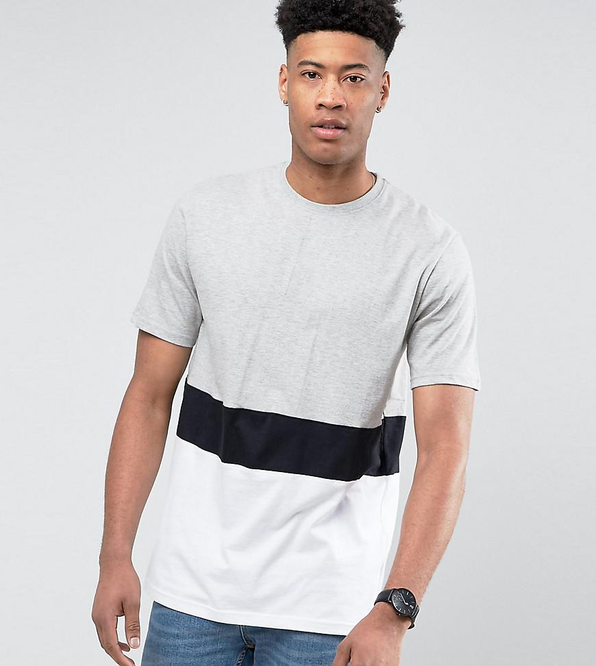 TALL T-Shirt With Panel Block In Grey - Grey Jacamo Comfortable Cheap Price Latest Cheap Price Outlet In China Best Wholesale Free Shipping Real rVrbol