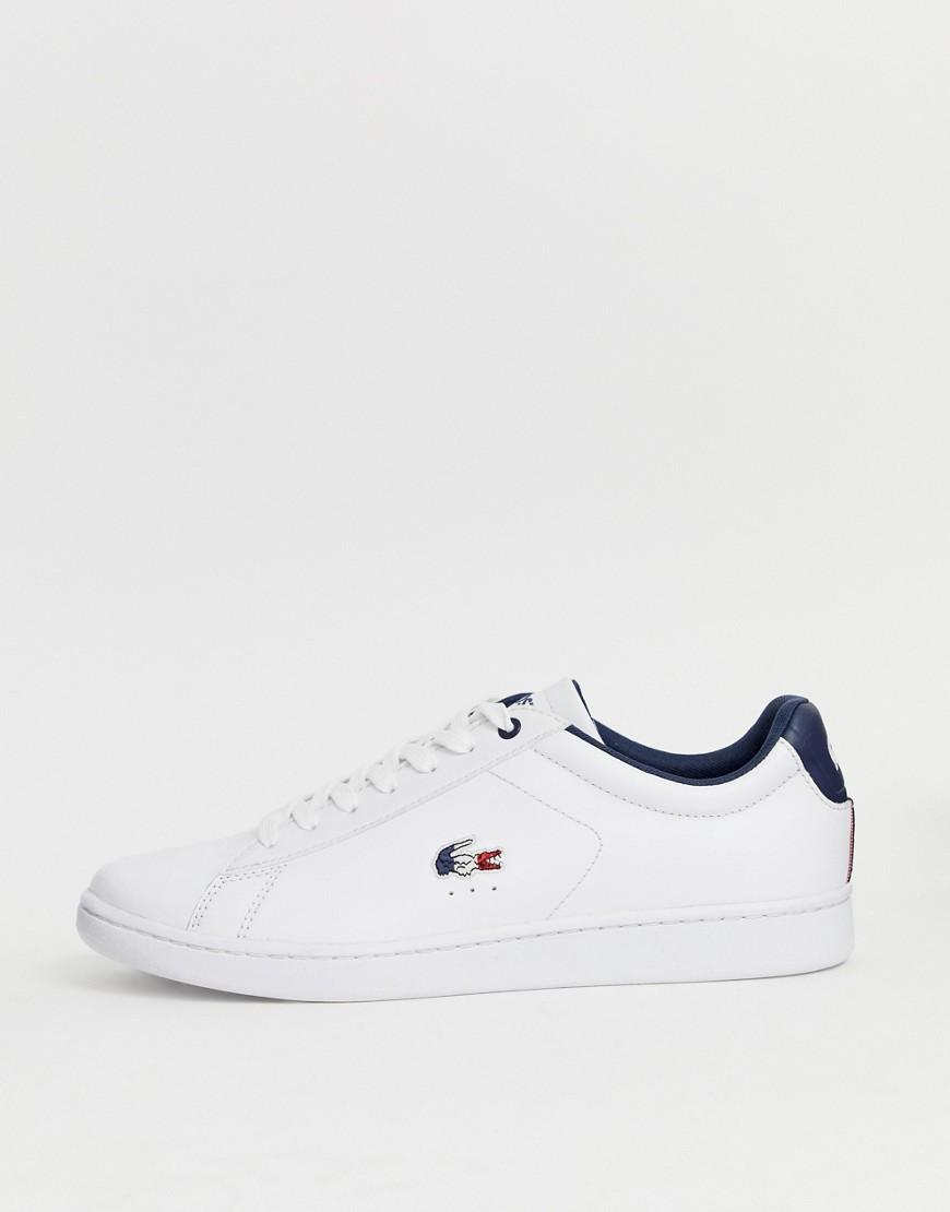 3a031b051312 Lacoste Carnaby Evo With Tricolour Croc In White in White for Men - Lyst