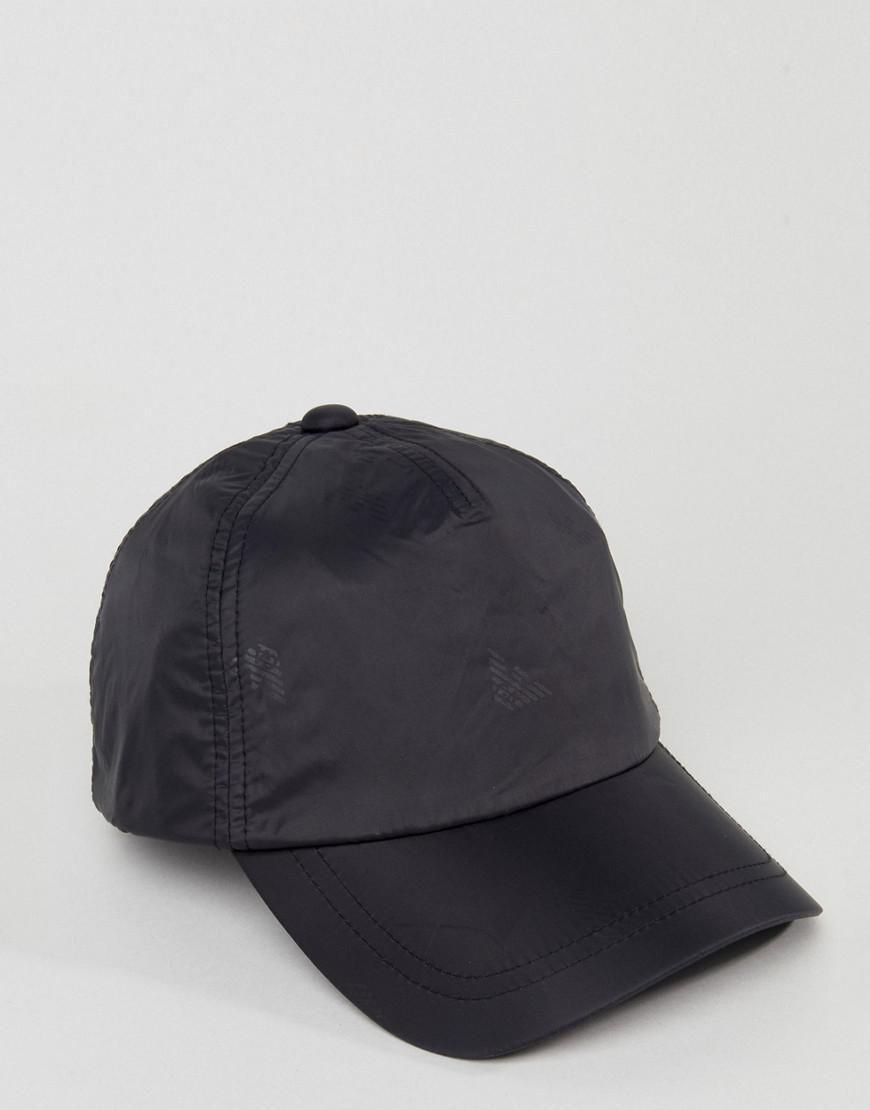 d5188898702b6 Lyst - Casquette de baseball en nylon avec logo Emporio Armani pour homme  en coloris Noir