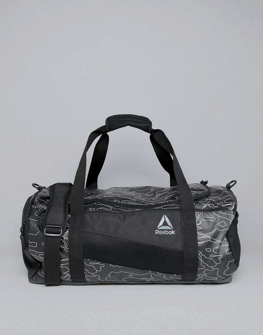 ad8593d459 Reebok Training Active Enhanced 48l Holdall Bag In Black Camo Print ...