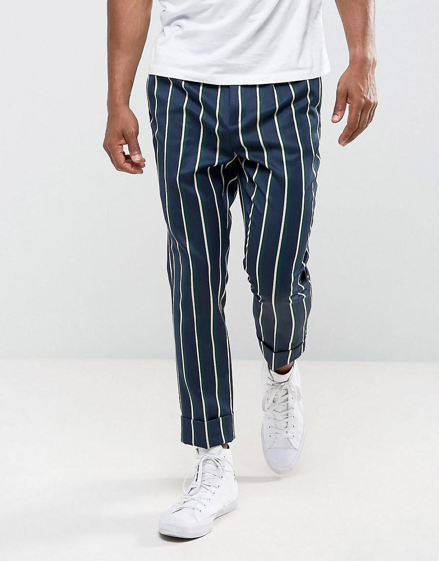ASOS. Men's Blue Tapered Smart Trousers ...