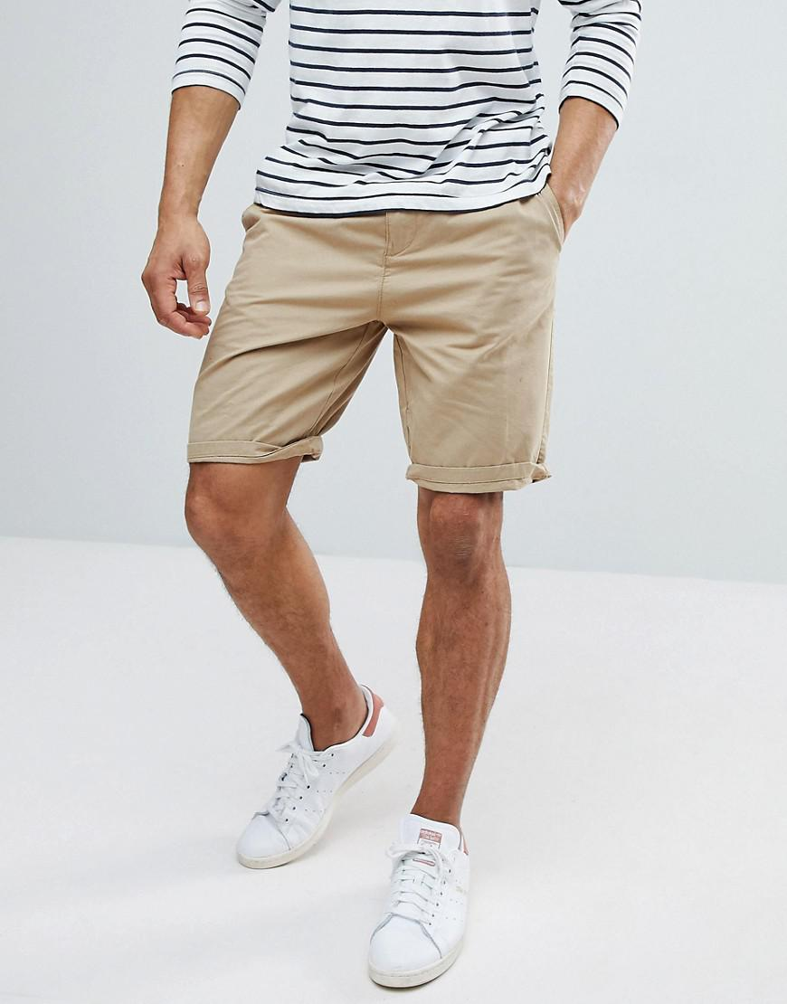 Belted Shorts In Navy - Navy Bershka