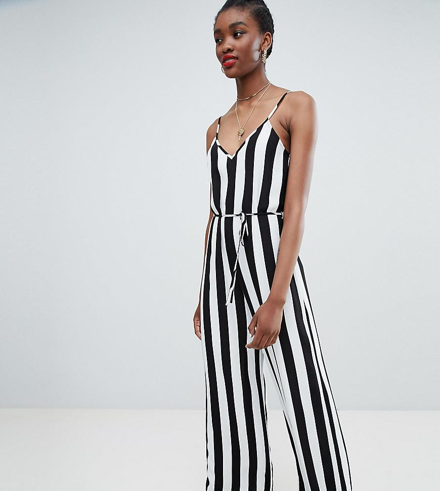 3d37c7583a14 New Look Stripe Strappy Jumpsuit in Black - Lyst