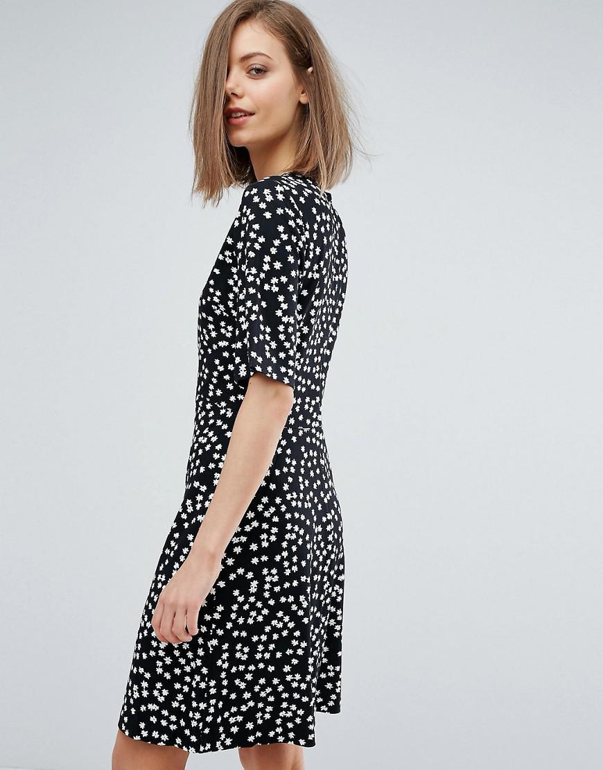 Ditsy Floral Shift Dress - Black pattern Warehouse 5I6bg