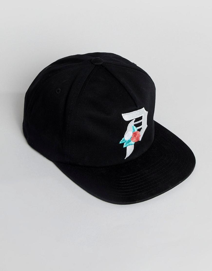 e74afd84717 Primitive Skateboarding Rose Logo Unstructured Snapback In Black in Black  for Men - Lyst