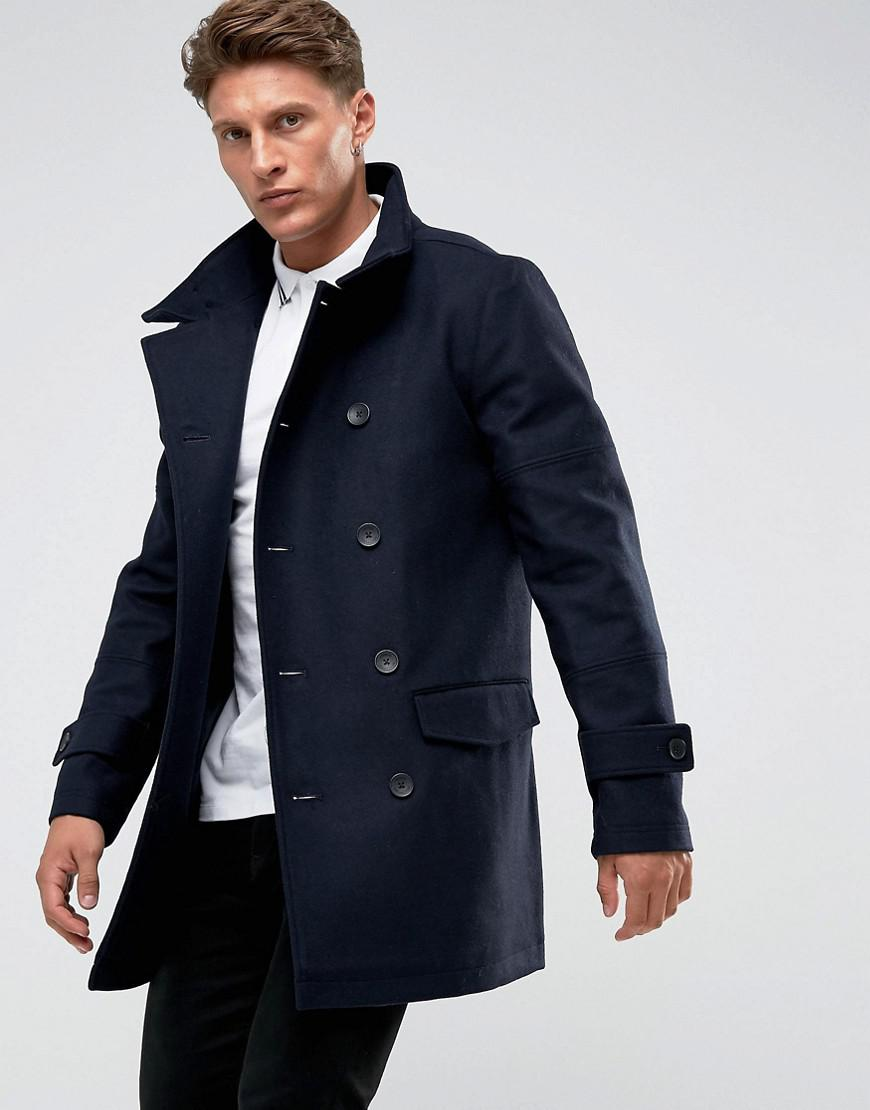 725010ecf74 French Connection Funnel Coat in Black for Men - Lyst