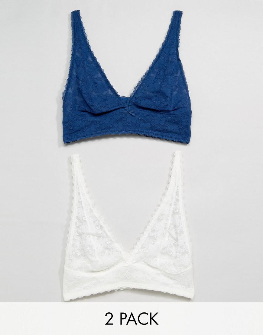 131e3ca6d5c3 DORINA Marina 2 Pack Lace Bralette in Blue - Lyst
