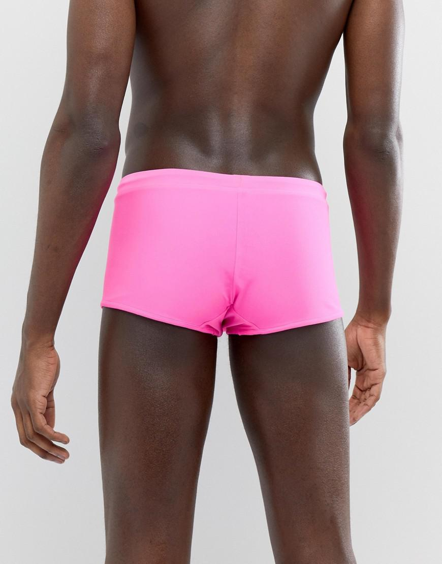 Discount Limited Edition For Sale Online Store DESIGN Reversible Swim Trunks In Black And Pink - Multi Asos Free Shipping Order Clearance Reliable TyHcEMT
