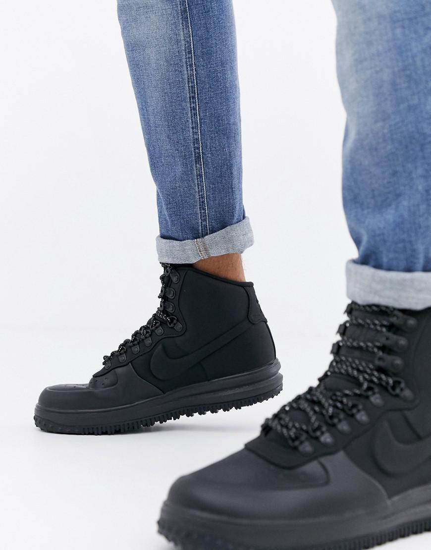 huge discount 47a13 71185 Nike. Men s Lunar Force 1 Duckboot Trainers In Black Bq7930-003