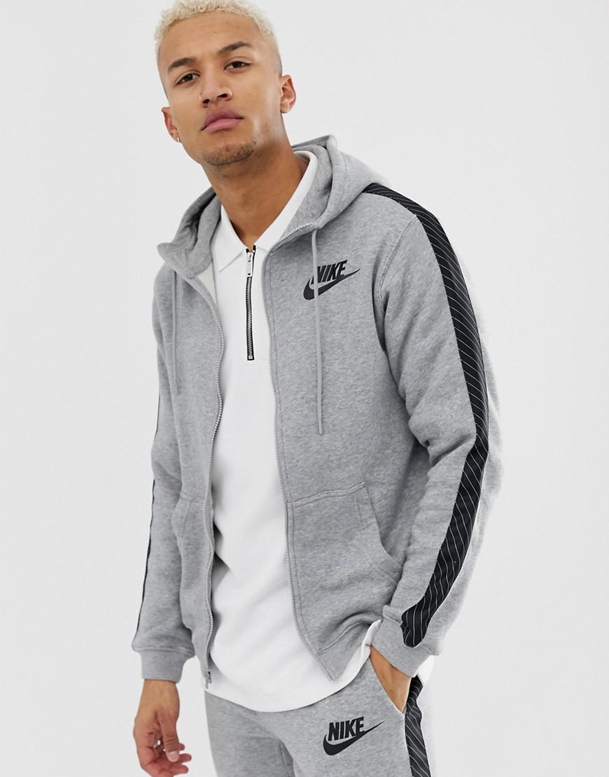 2991319b502903 Nike Hoodie With Striped Side Tape In Grey Bq0678-063 in Gray for ...