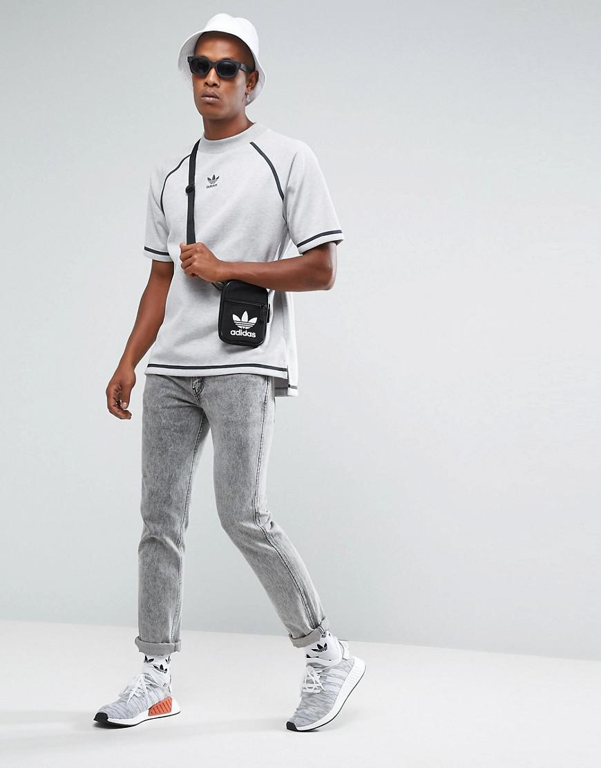 7536f16c adidas Originals Chicago Pack Taped Nova Ss Sweat In Grey Bs4491 in ...