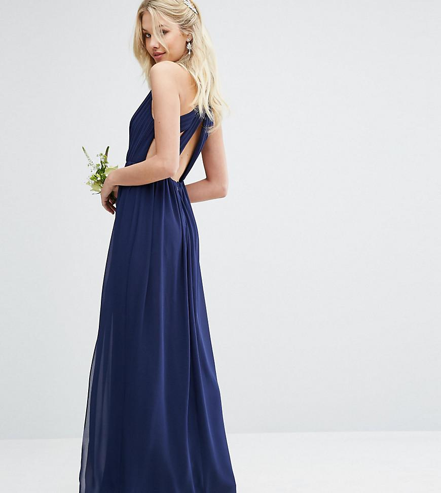 dc21598d66 Lyst - TFNC London Pleated Maxi Bridesmaid Dress With Back Detail in ...