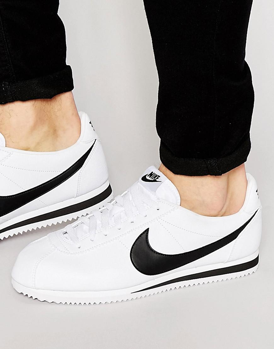 new product 93925 4c7dc Nike. Men s Cortez Leather Trainers In White ...