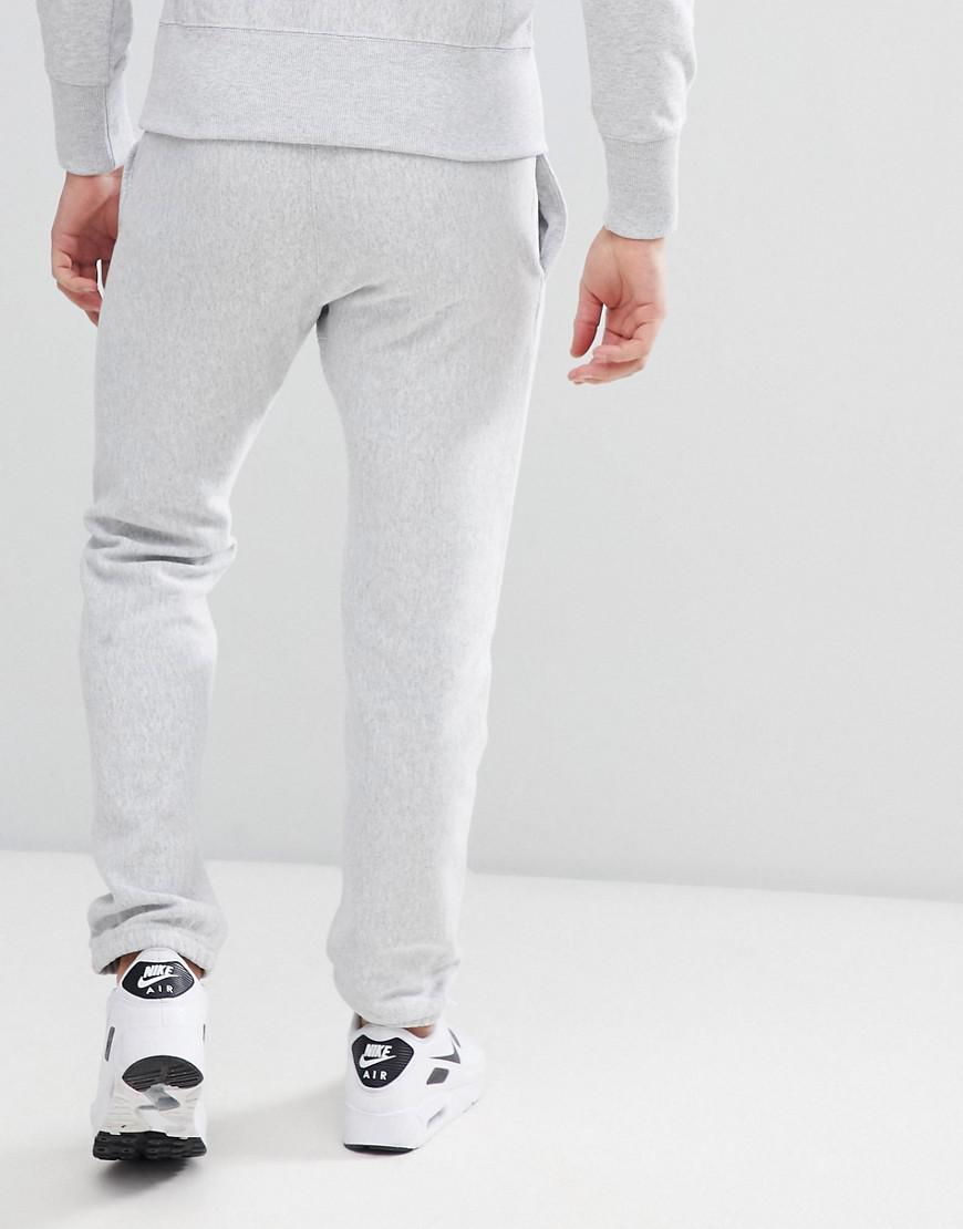 53deddf5 Champion Reverse Weave Joggers With Small Logo Grey in Gray for Men - Lyst