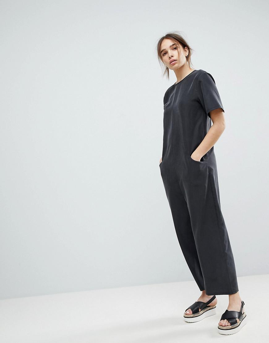 9ad696f8e3 Lyst - ASOS Minimal Jumpsuit With Dropped Crotch in Black