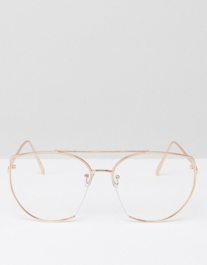 Lyst - Lunettes yeux de chat style intello à verres transparents ... 5657d617417e