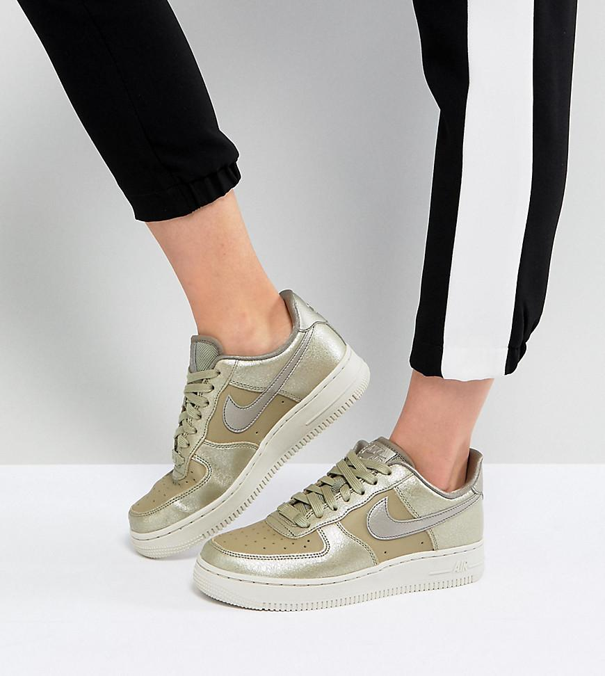 Nike Air Force 1  07 Trainers In Pearl Dust Olive in Green - Lyst c61928f1f