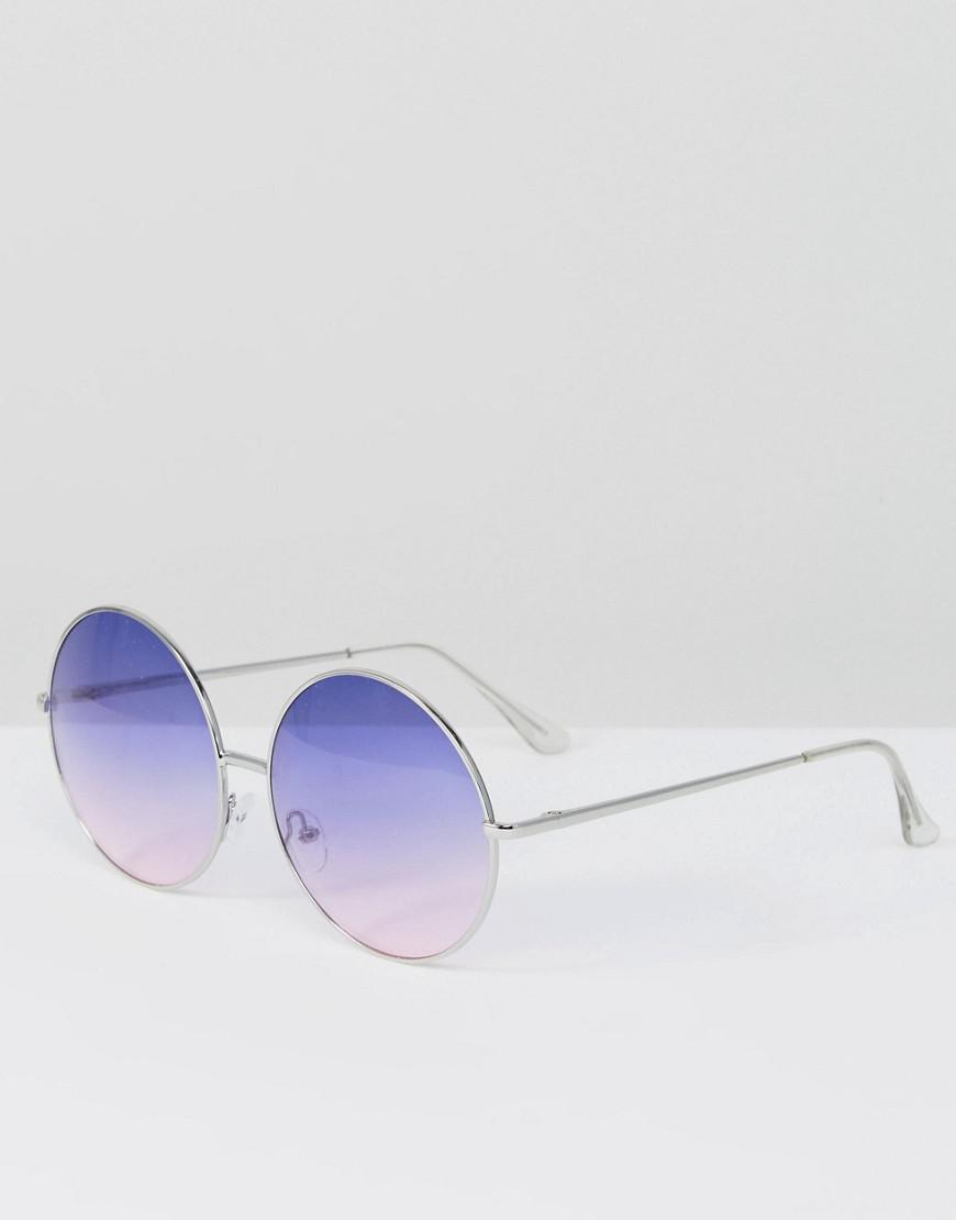 fb3d220314 Lyst - Skinnydip London Oversized Round Sunglasses With Pale Purple ...