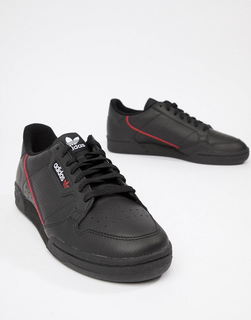 6b21bdd61af6 adidas Originals Continental 80 s Trainers In Black B41672 in Black for Men  - Lyst