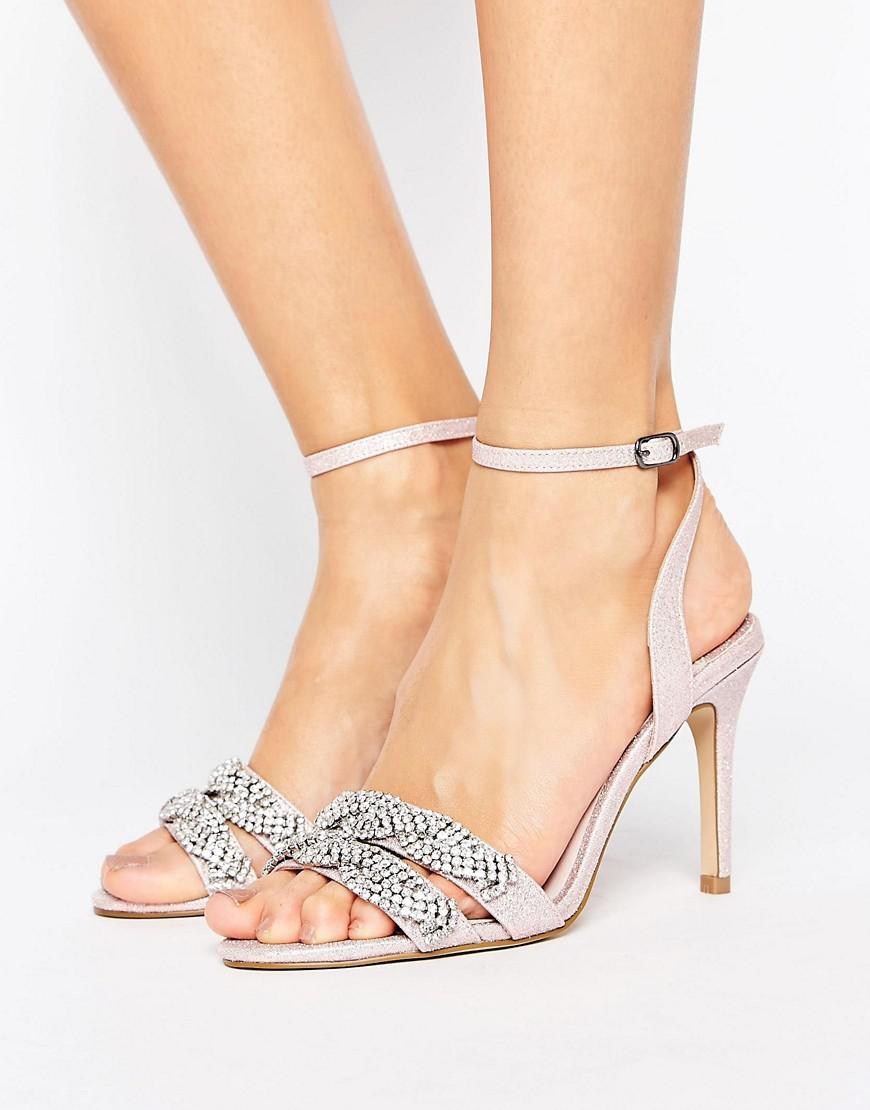 1398a6ec1 Faith Dash Embellished Heeled Sandals in Pink - Lyst