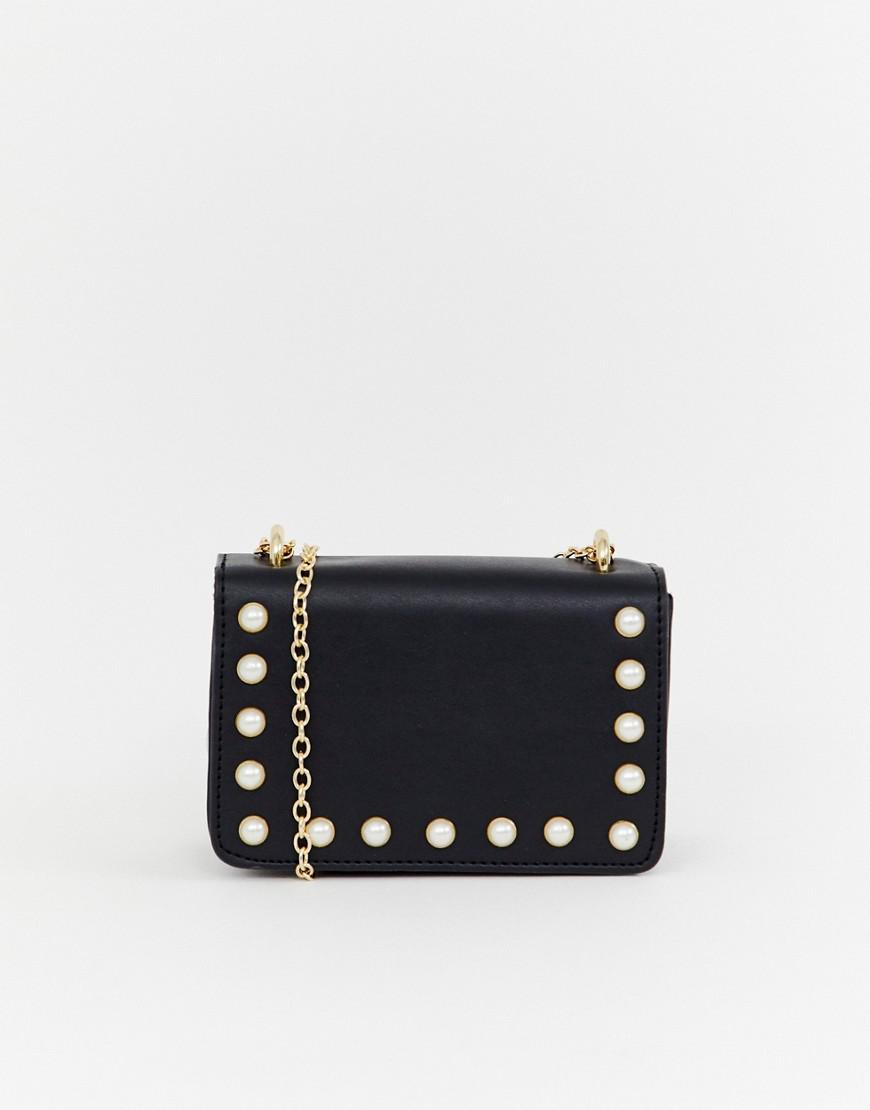 235b1c3b3e Yoki Fashion Yoki Faux Pearl Embellished Mini Cross Body Bag in ...