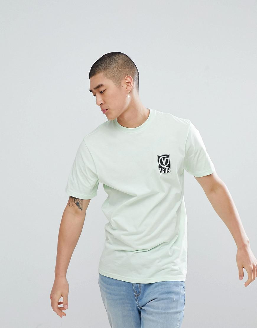 a46d5849231d3b Vans Worldwide T-shirt With Back Print In Green Va3ha9p0n in Green for Men  - Lyst