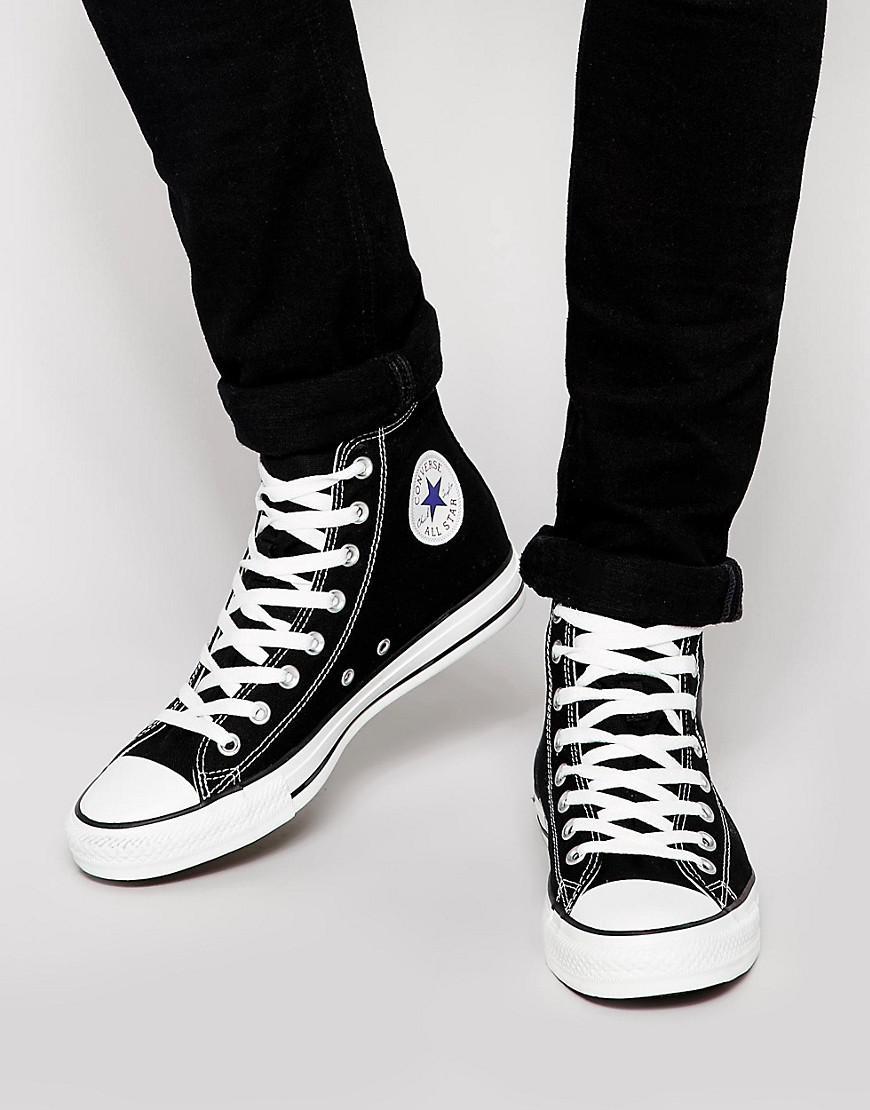 Converse All Star Hi Plimsolls In Black M9160c in Black for Men - Lyst c559b7f9a
