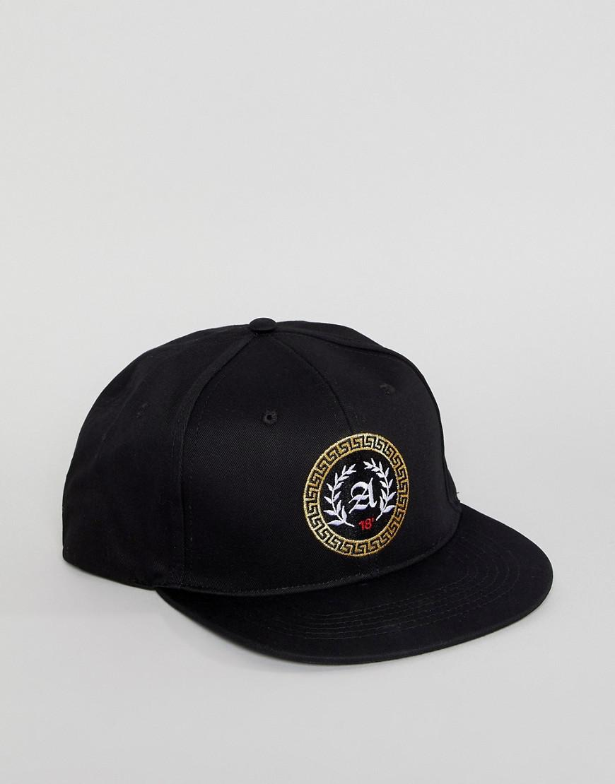 Lyst - Asos Snapback In Black With Gold Embroidery in Black for Men 812a419ce3a2