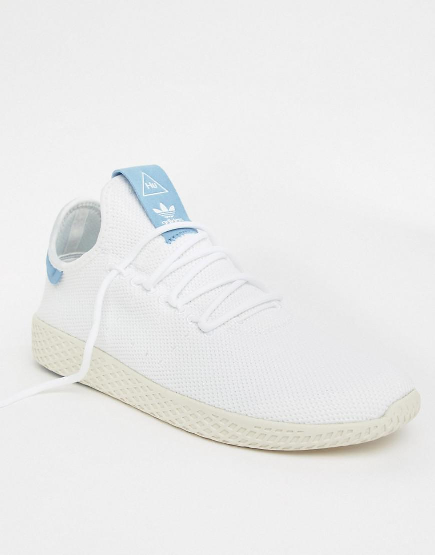 2c886148556f7 adidas Originals Pharrell Williams Tennis Hu Sneakers In White ...
