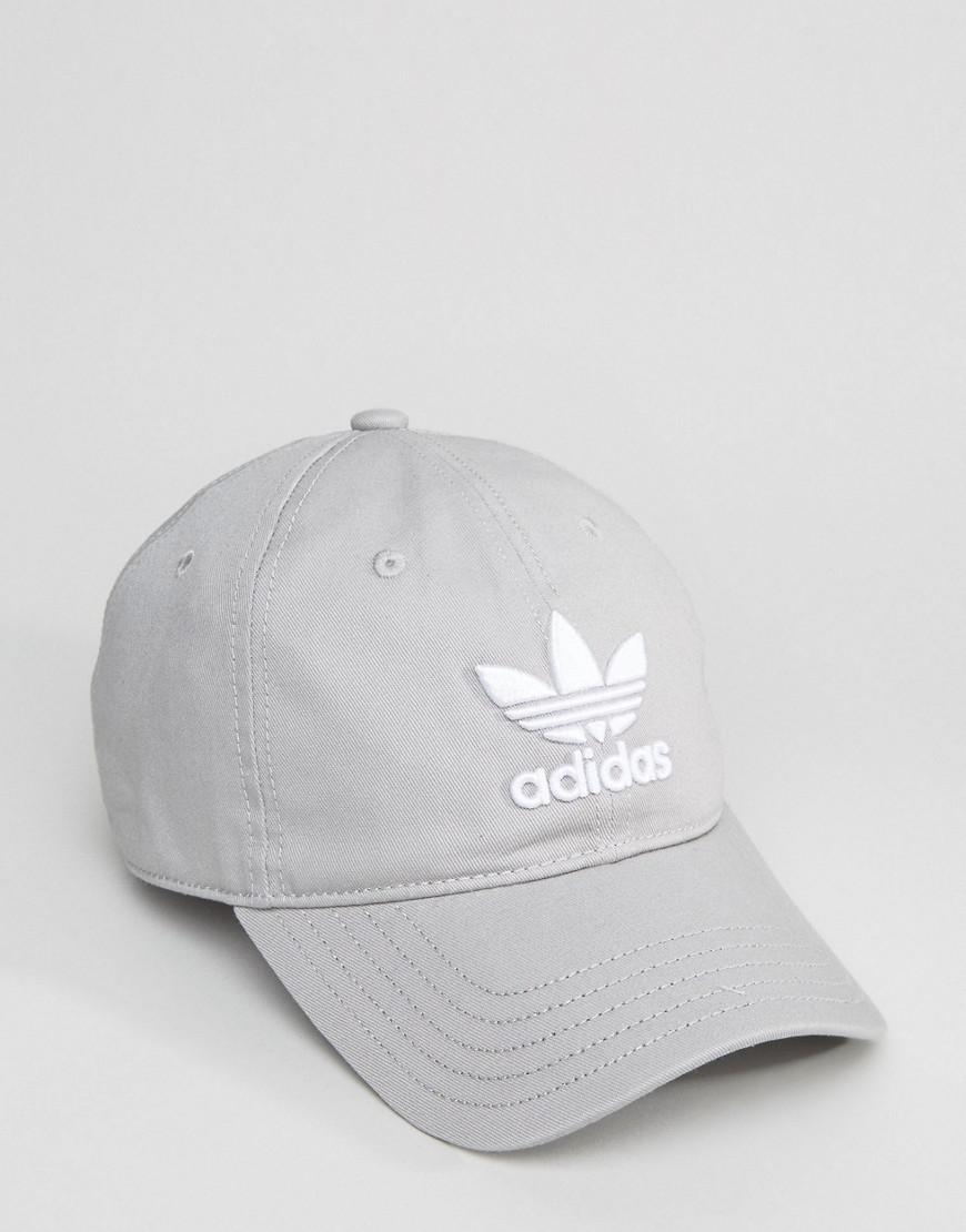 5d30c4f5586 adidas Originals Trefoil Cap In Grey Bk7282 in Gray for Men - Lyst