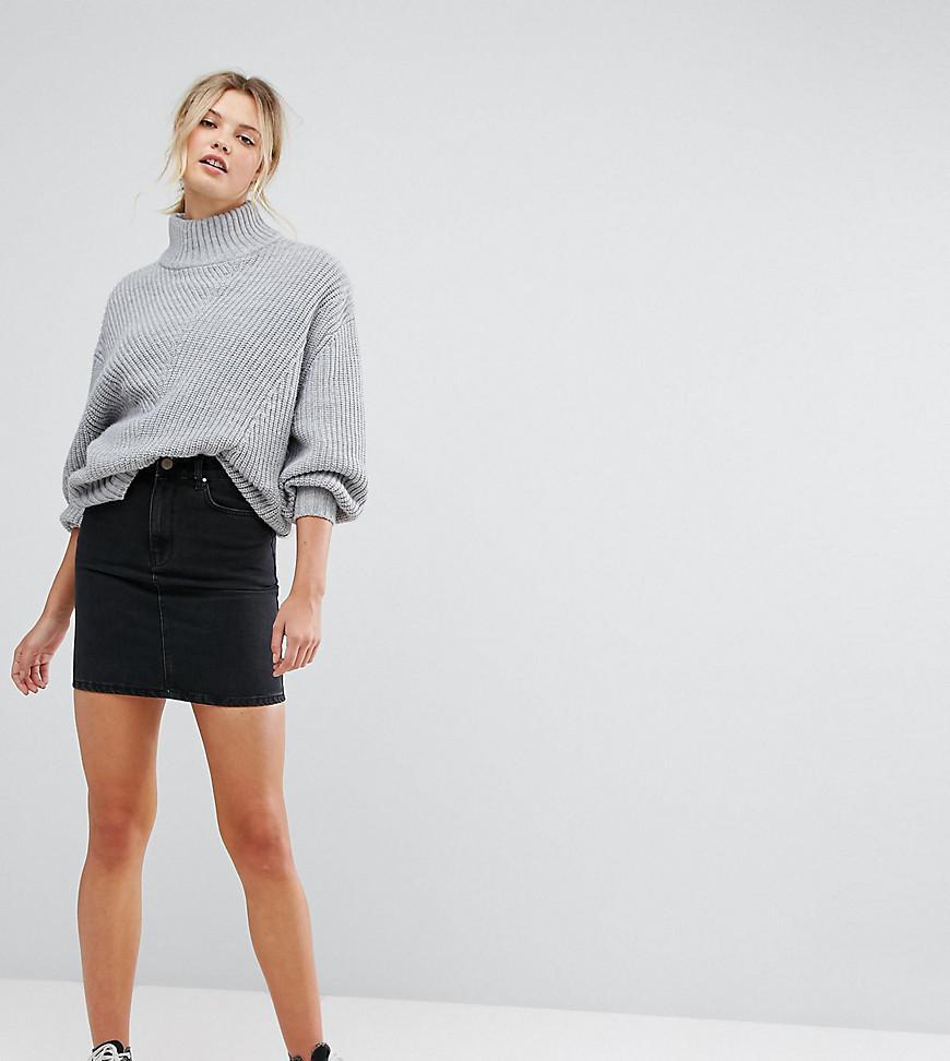 4cbdd5192 Asos Tall Black Denim Skirt