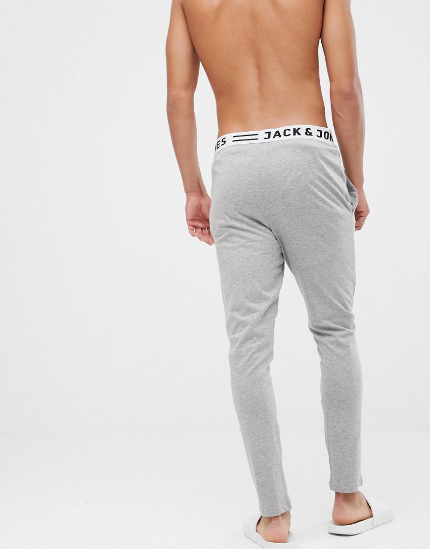 ad6856b365e7 Lyst - Pantalon confort en jersey avec taille style boxer Jack   Jones pour  homme en coloris Gris
