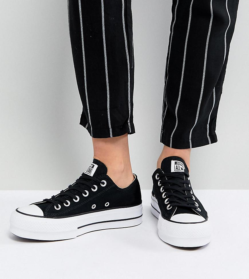 Lyst - Converse Chuck Taylor All Star Platform Ox Trainers In Black ... 29e05a44f