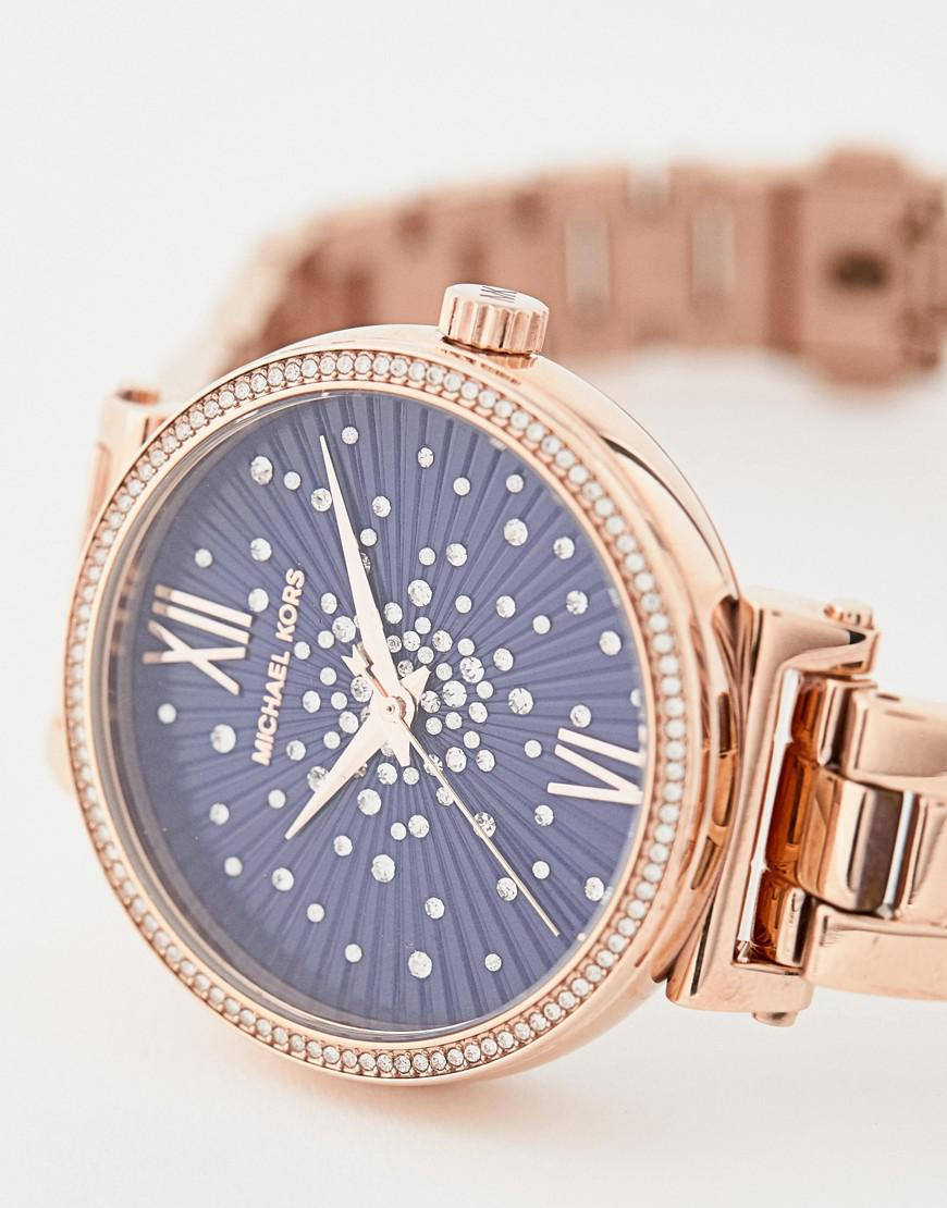 8f4d9d364 Michael Kors Mk3971 Mini Sofie Bracelet Watch In Rose Gold 36mm in ...