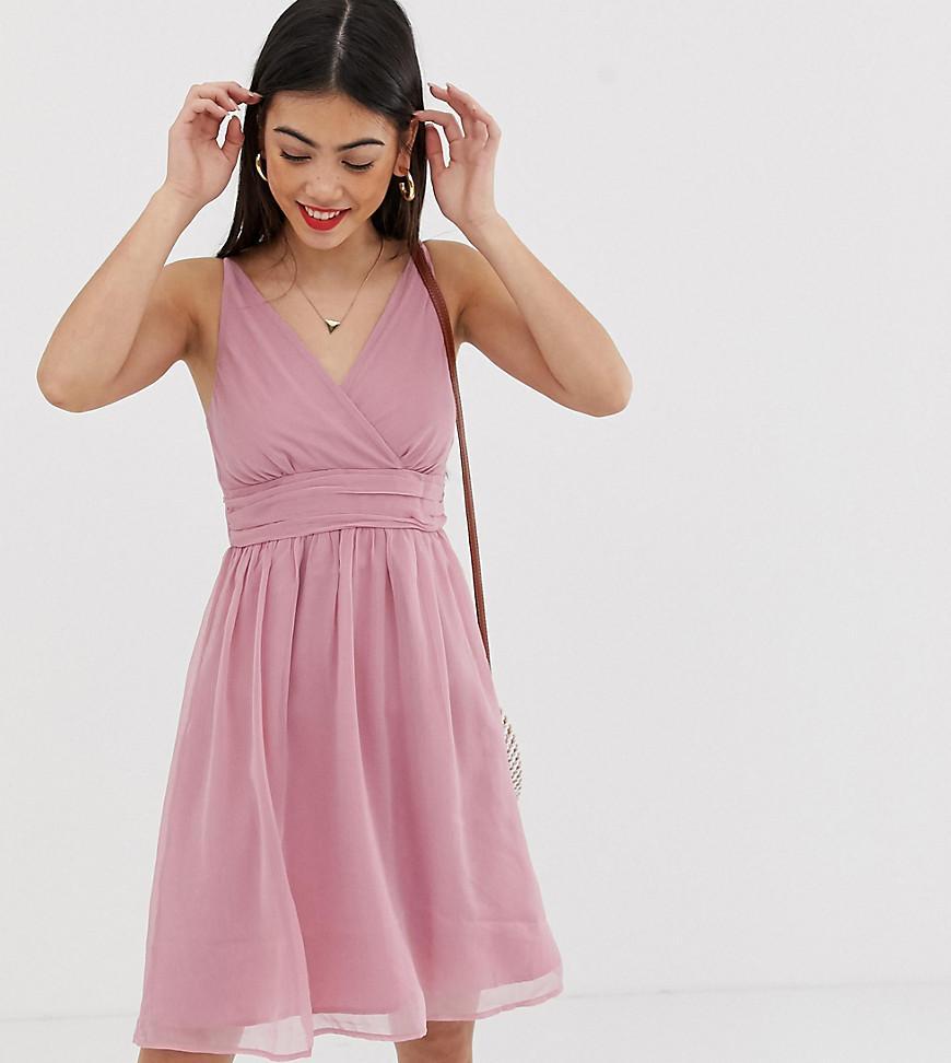 78566a683ce4 Lyst - Vero Moda Ruche Detail Dress in Pink