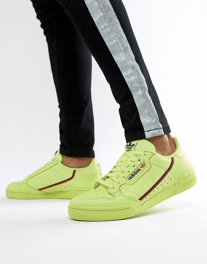 Lyst - adidas Originals Continental 80 s Sneakers In Yellow B41675 ... 2036b545ed02c
