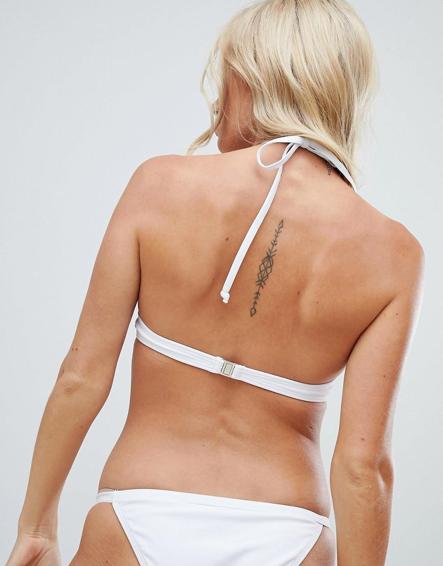 79c76e0b03 Lyst - South Beach Exclusive Mix And Match Monowire Bikini Top In White in  White