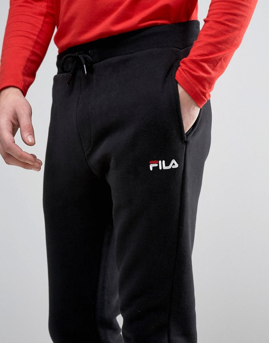 f0b86c5c7d65 Lyst - Fila Vintage Skinny Joggers With Small Script in Black for Men