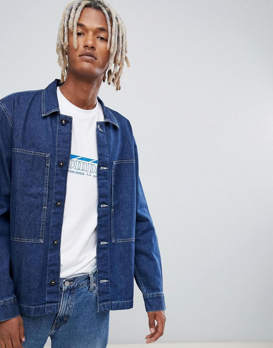 62bff8fa04f Lyst - Weekday Ran Denim Shirt Billy Blue in Blue for Men