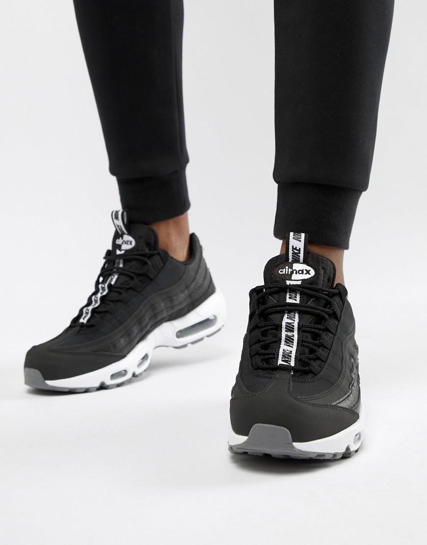 5015acdfbc Nike Air Max 95 Se Sneakers In Black Aq4129-002 in Black for Men - Lyst