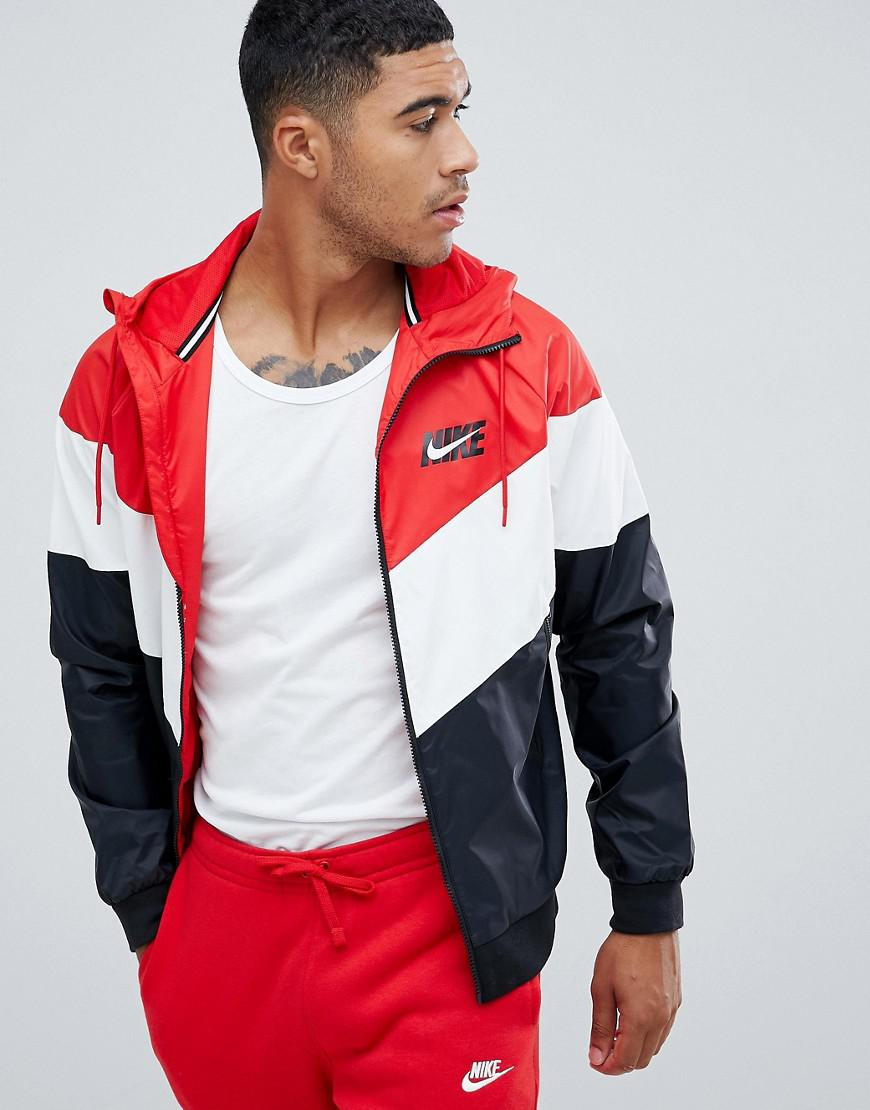 f925b3a90ae531 Nike Windbreaker With Back Print In Red Aj1396-658 in Red for Men - Lyst