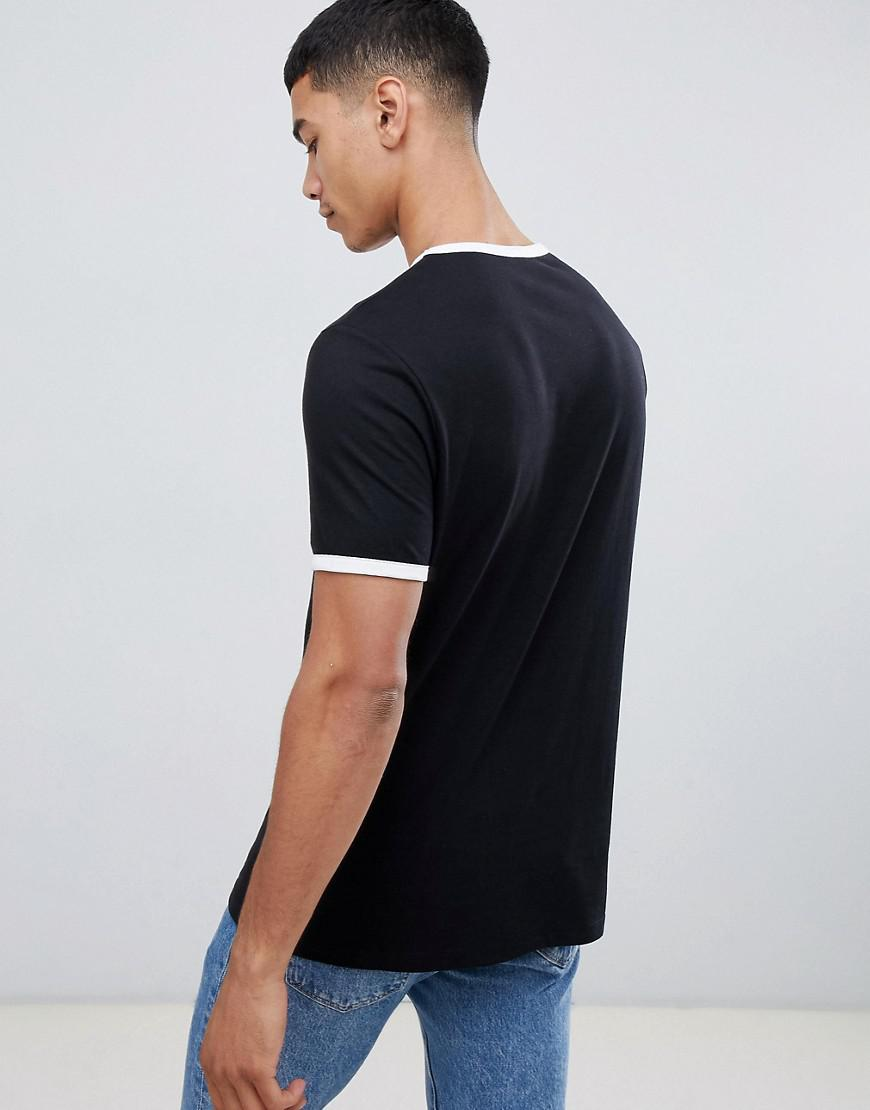 4c0045c9 Lyst - ASOS T-shirt With Crew Neck With Contrast Ringer in Black for Men