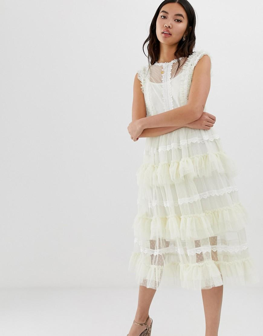77e35260f1b4 Amy Lynn Ruffled Layered Lace Dress in White - Lyst