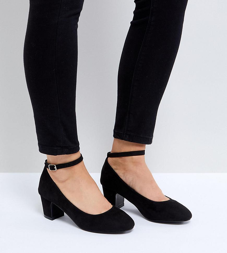 New Look Low Block Heel Court Shoe In Black Lyst