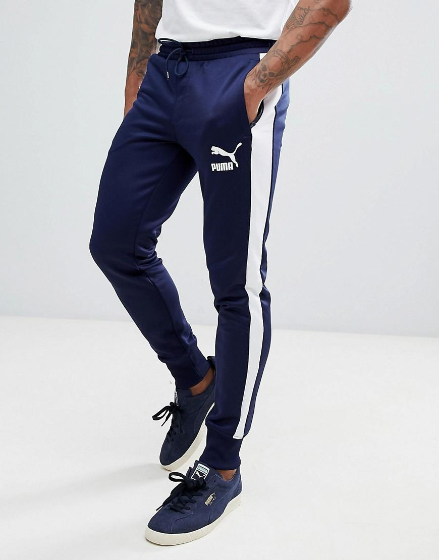 833a28167778 PUMA Archive T7 Joggers In Navy 57265706 in Blue for Men - Lyst