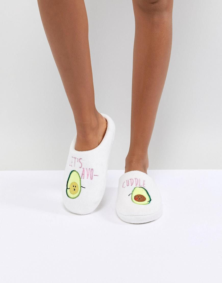 85fac942c333 Lyst - ASOS Never Leave Avo-cuddle Slippers