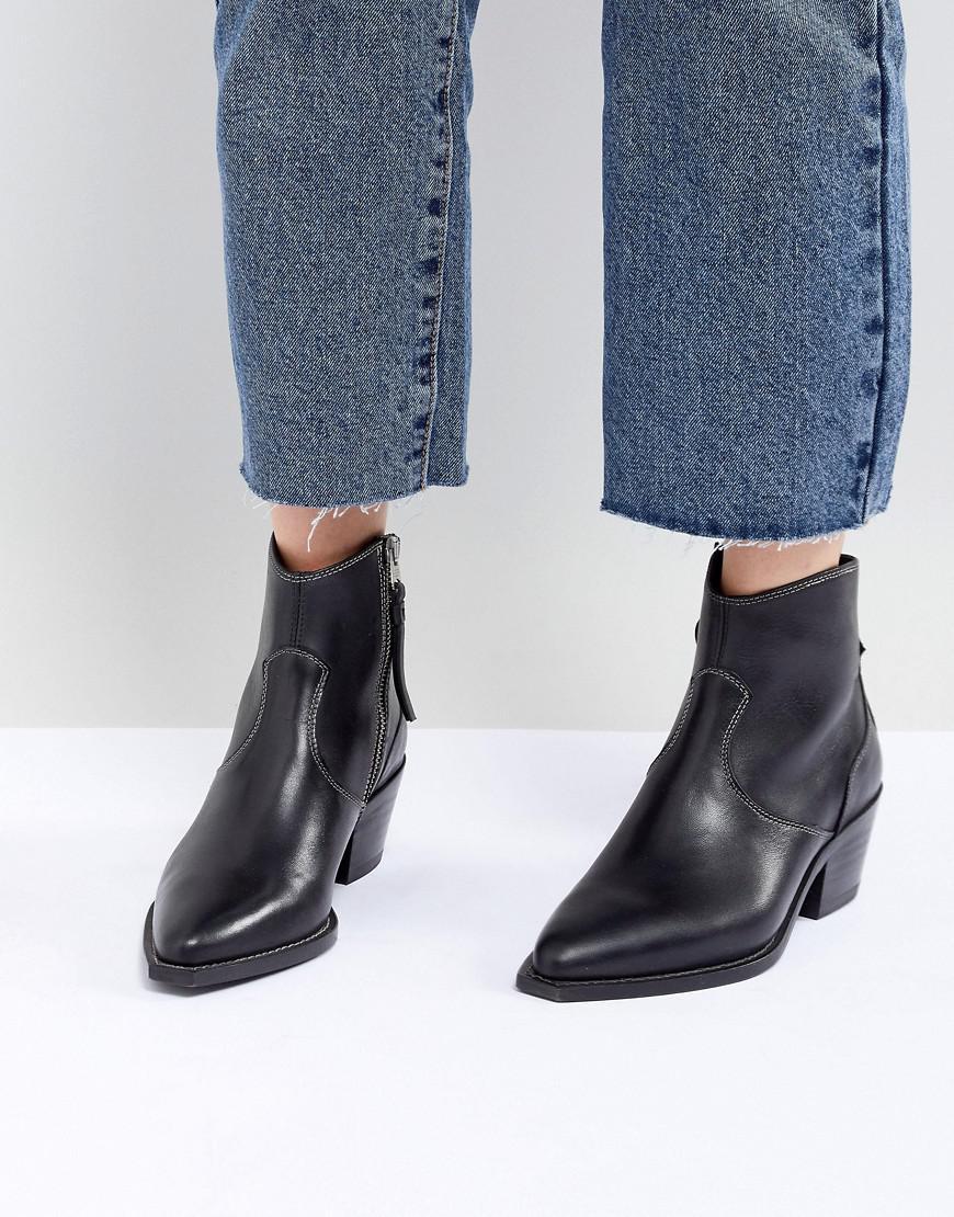 cost sale online discount supply AllSaints Stitch Detail Western Boot V86r72oK