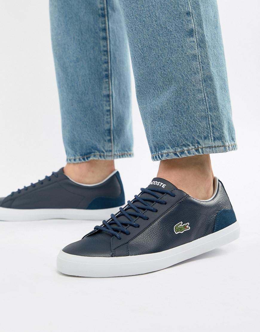 198685f67583 Lacoste Lerond Bl 1 Trainers In Navy in Blue for Men - Lyst